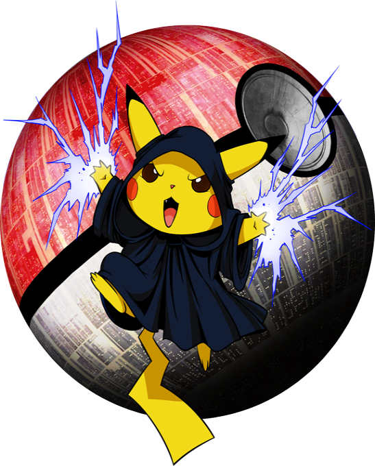 Pikachu and Darth Sidious - Emperor Palpatine