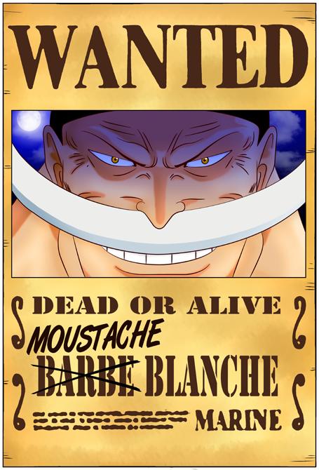 Poster HD One Piece parodique Edward Newgate - Barbe Blanche : Le Wanted secret... :) (Parodie One Piece)