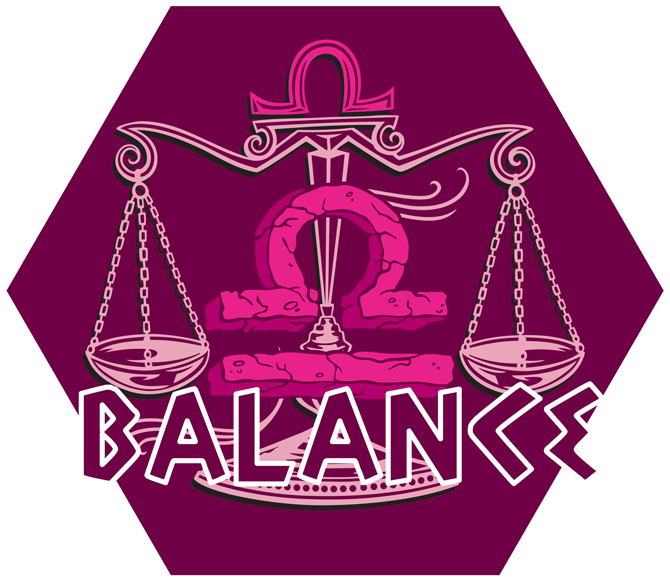 Artwork du signe de la Balance (Version Rose)