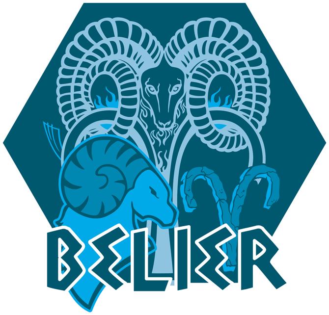 Artwork du signe du Bélier (Version bleue)