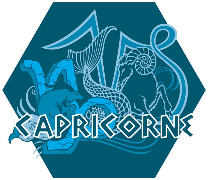 Artwork du signe du Capricorne (Version Bleue)
