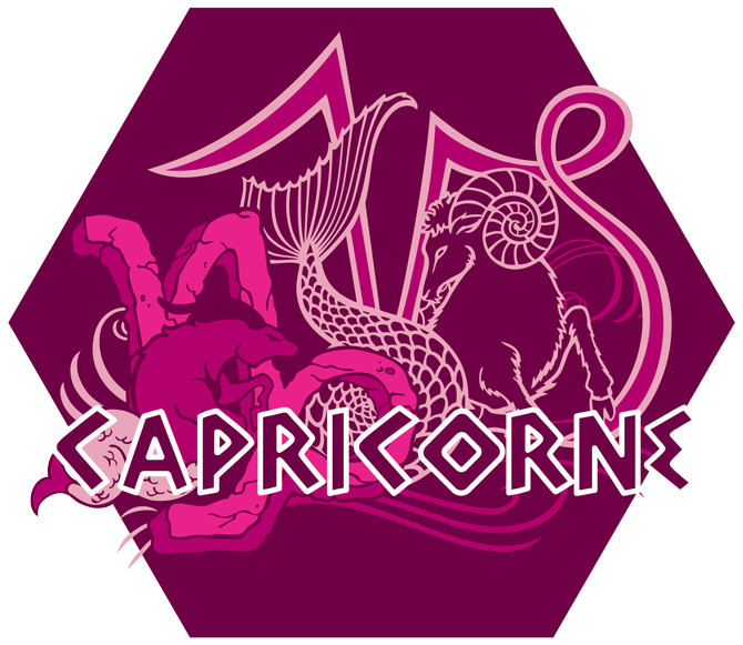 Artwork du signe du Capricorne (Version Rose)