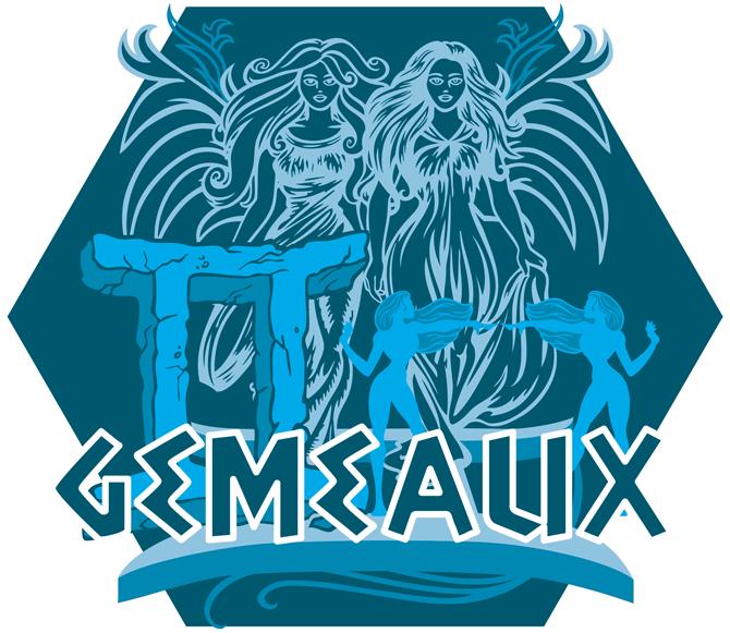 Artwork du signe des Gémeaux (Version Bleue)