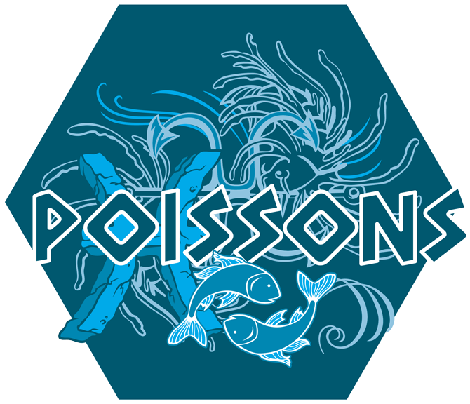 Artwork du signe des Poissons (Version Bleue)