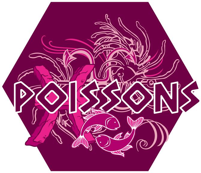 Artwork du signe des Poissons (Version Rose)