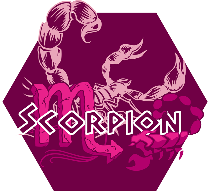 Artwork du signe du Scorpion (Version Rose)