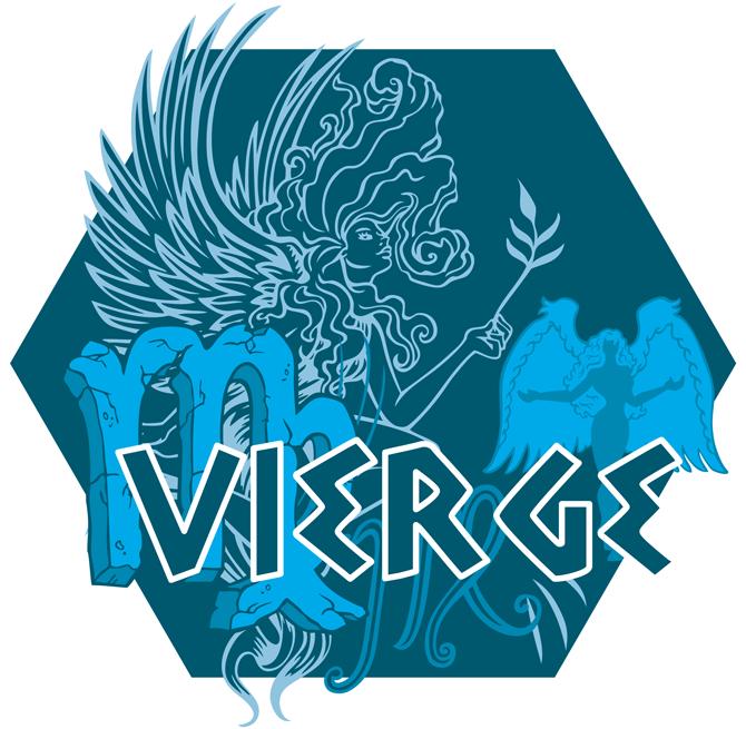 Artwork du signe de la Vierge (Version Bleue)