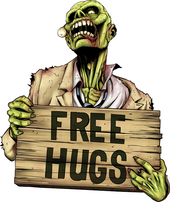 Walking Dead Zombie - Free Hugs