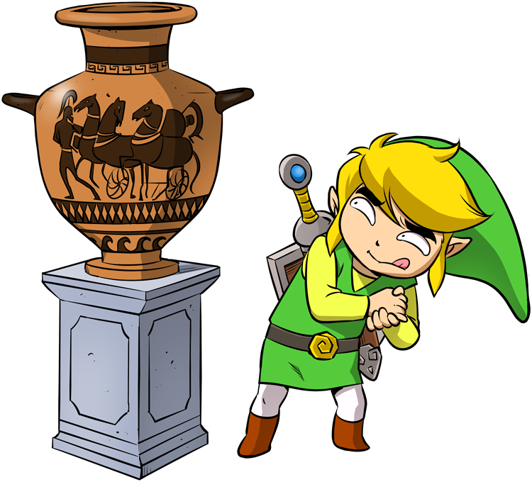 T-shirts Zelda parodique Link : Petite visite au musée... (Parodie Zelda)