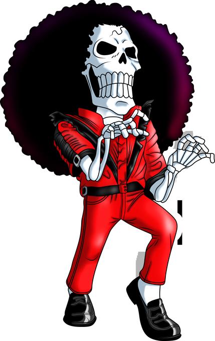 T-shirts One Piece parodique Brook : Thriller !! (Parodie One Piece)