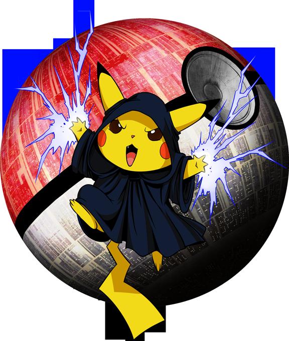 Casquette Pokémon parodique Pikachu et Dark Sidious aka Palpatine : Palpa-chu :) (Parodie Pokémon)