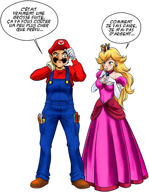 Le plombier et la blonde pulpeuse...