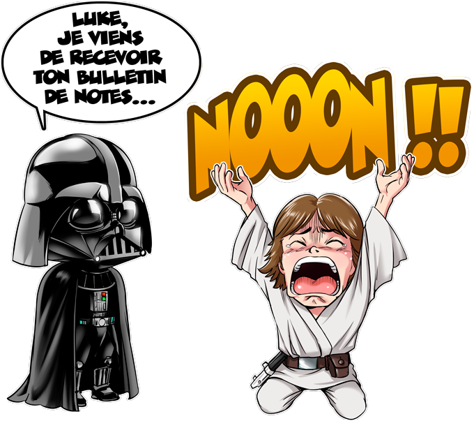 T-shirts Star Wars parodique Luke Skywalker et Dark Vador : Luke Life Episode I : Un père qui craint :) (Parodie Star Wars)