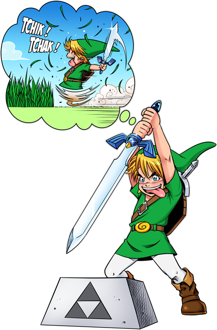 Link and the Excalibur Sword
