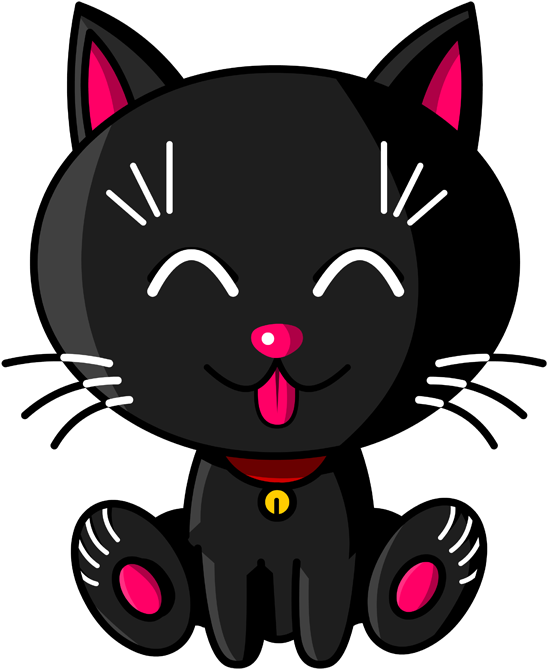Mugs  Kawaii Baby Cat (noir)