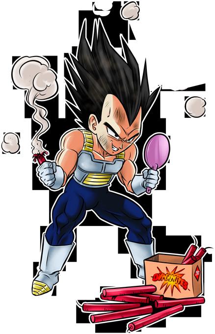 T-shirts Dragon Ball Z - DBZ parodique Végéta : Coiffure explosive :) (Parodie Dragon Ball Z - DBZ)