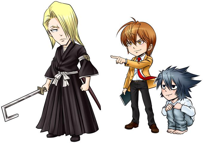 L, Lignt Yagami and Kira