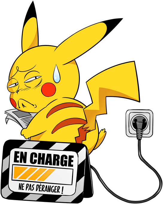 Sweat-shirts à Capuche Manga - Parodie Pikachu de l'Animé Pokémon En charge... (Super Deformed)
