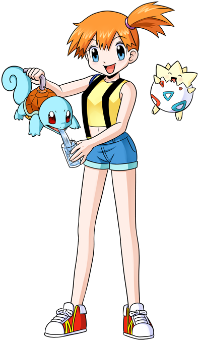 Misty, Squirtle and Togepi
