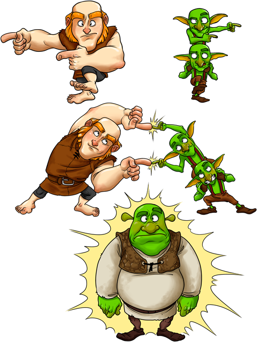 Giant, Gobelins and Shrek