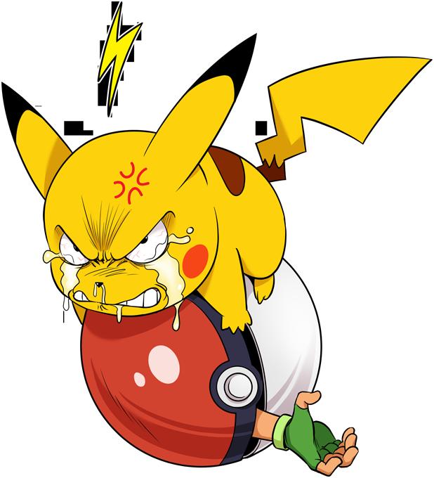 T-shirts Femmes Jeux Vidéo Humour - Parodie Pikachu de Pokémon Vengeance !!!! (SD Version)
