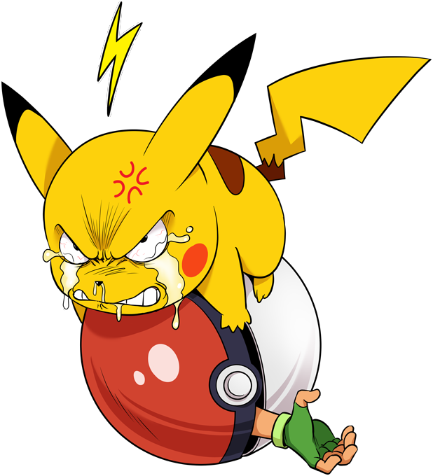 T-shirts Pokémon parodique Pikachu et Sasha : Grrrr, Vengeance !!!! :) (Parodie Pokémon)
