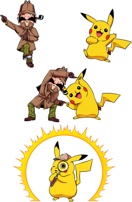 Pikachu and Sherlock Holmes