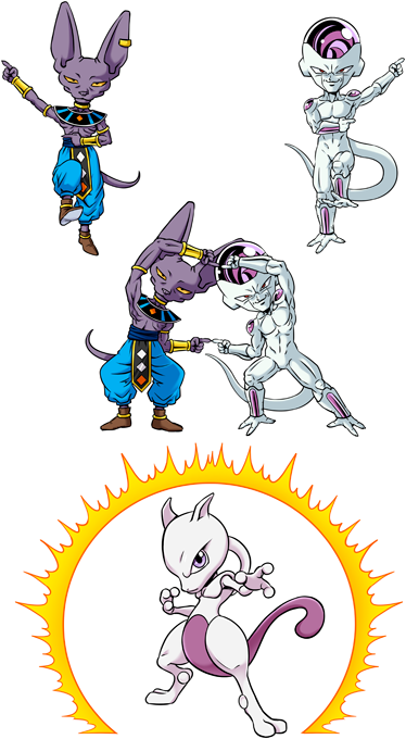 Beerus, Frieza and Mewtwo