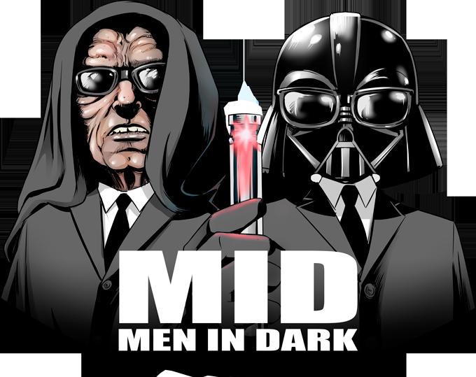 Men In Black X Dark Vador and Palpatine