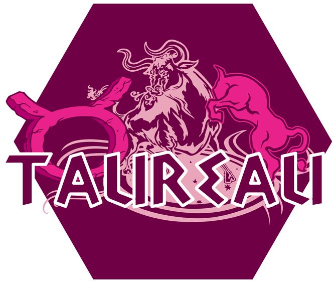 T-shirts Femmes Zodiaque Taureau ( signe astrologique ) Artwork du signe du Taureau (Version Rose)