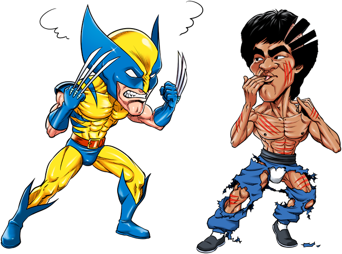 Wolverine Vs Bruce-Lee