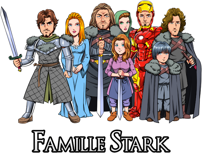 The Stark Family (Avec Robert Downey Jr dans le rôle de Tony)