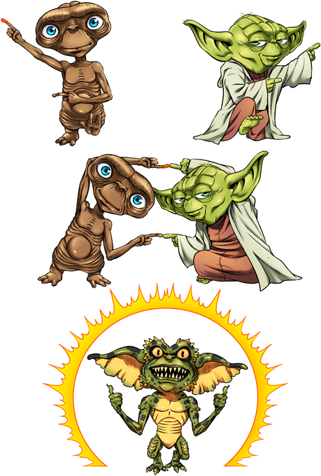 Yoda, ET the Extraterrestrial and Spike the Gremlin