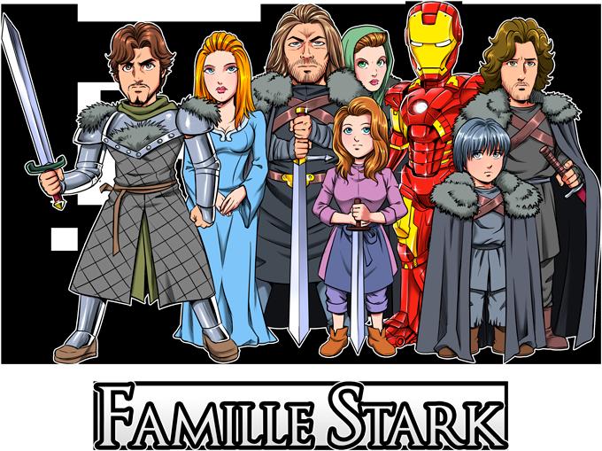 La Famille Stark au complet !