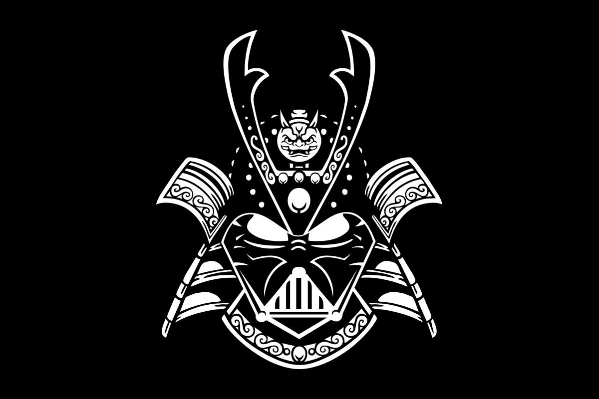 T-shirts Japon Culture parodique  : Dark Samurai (Parodie Japon Culture)