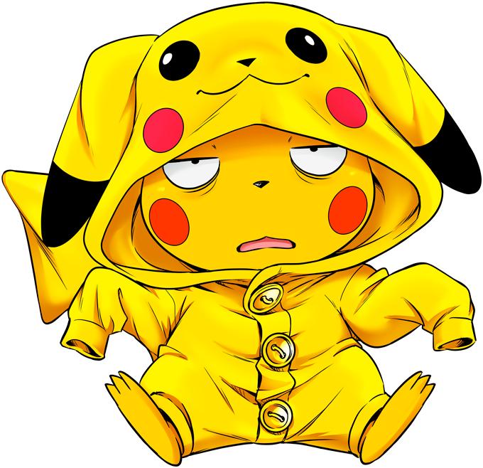 T-shirts Enfants Filles Jeux Vidéo - Parodie de Pikachu de Pokémon Une drôle de tronche :)