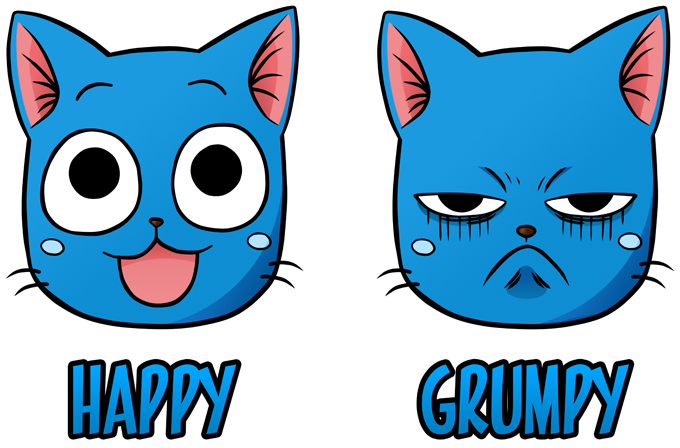 Happy and Grumpy Cat
