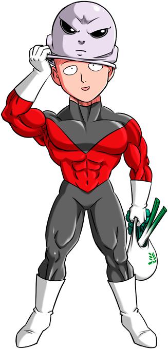 T-shirts One-Punch Man - Dragon Ball Super parodique Saitama et Jiren : Le secret du plus grand guerrier de l'univers (Parodie One-Punch Man - Dragon Ball Super)