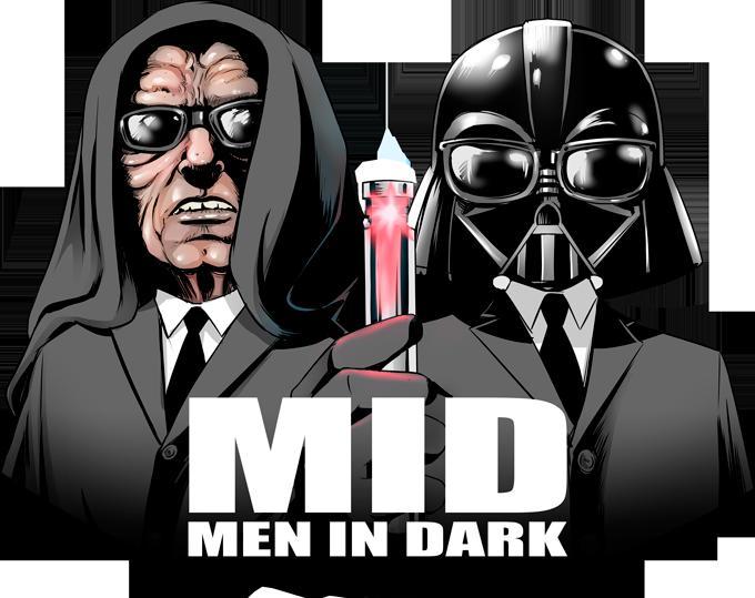 Darth Vader and Darth Sidious as Men In Black