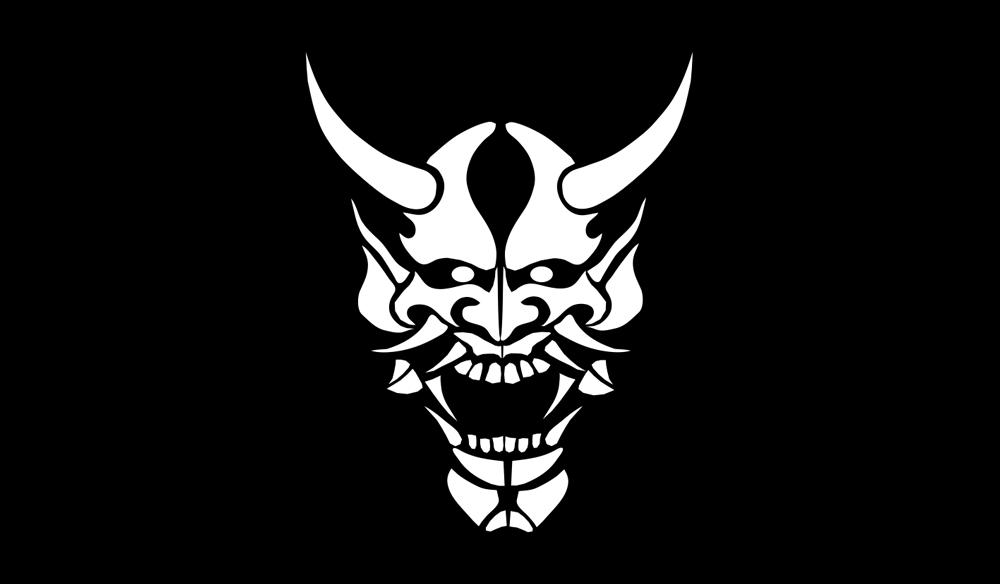 T-shirts Japon Culture parodique Japon : Oni Gamen (Masque de démon japonais) (Parodie Japon Culture)