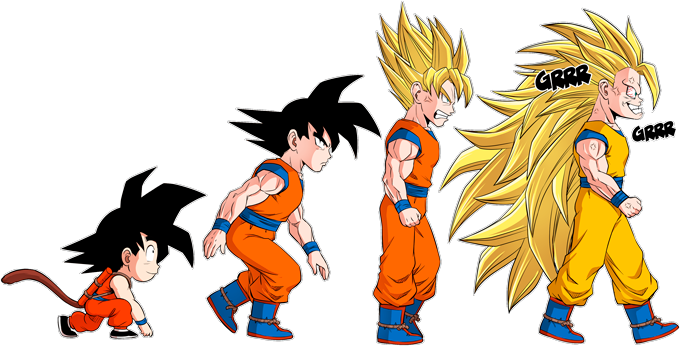 Son Goku Saiyajin evolutionary theory