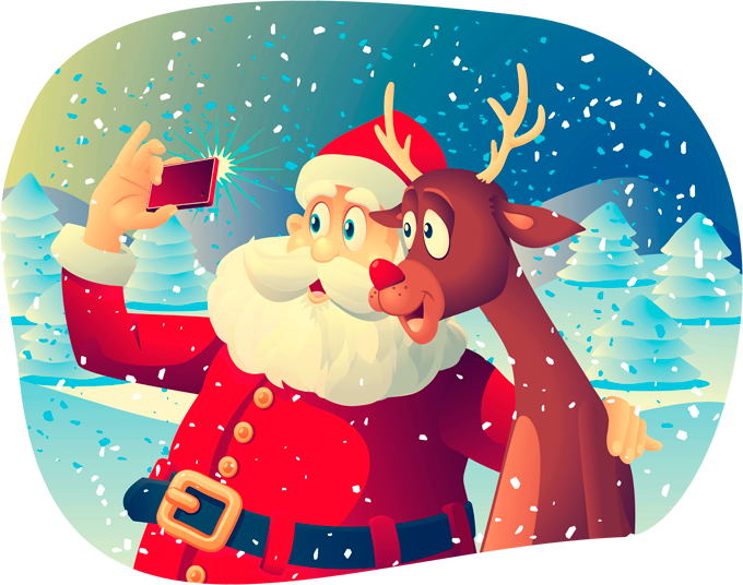 T-shirts Femmes Humoristique Le Selfie du Père Noël :)