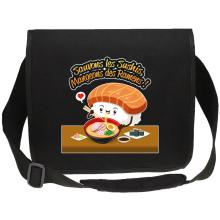 Sacs bandoulière Canvas  parodique Humoristique - Collection Humour et Japan par okiWoki : Sauvons les Sushis !! (Parodie )