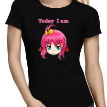 T-shirt Femme  parodique Manga Style : Today I am DE BONNE HUMEUR !! (Parodie )