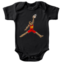Body bébé  parodique Chewbacca et BB-8 aka Air Jordan : Air Chewie (Parodie )