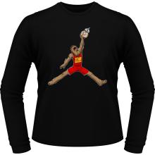 T-Shirts à manches longues  parodique Chewbacca et BB-8 aka Air Jordan : Air Chewie (Parodie )