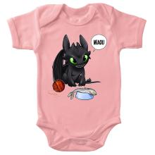 Body bébé (Filles)  parodique Krokmou : Après le poisson chat... Le Dragon Chat :) (Parodie )