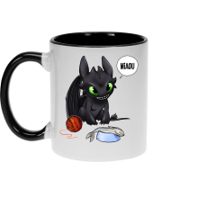 Mugs  parodique Krokmou : Après le poisson chat... Le Dragon Chat :) (Parodie )