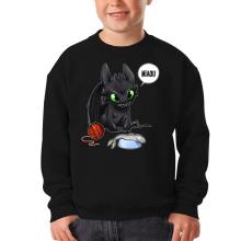 Pull Enfant  parodique Krokmou : Après le poisson chat... Le Dragon Chat :) (Parodie )
