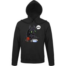 Sweat à capuche  parodique Krokmou : Après le poisson chat... Le Dragon Chat :) (Parodie )